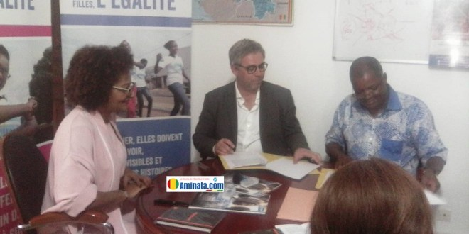 Signature d'un partenariat entre la fondation Orange Guinée et Plan Guinée international