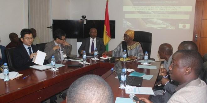 Le comité de pilotage du projet d'appui au développement de l'aquaculture en Haute Guinée