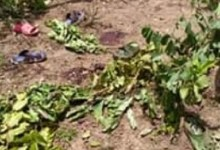 Lieu de l'explosion de la grenade à Dionga ( crédit Photo Abdoulaye Diallo conseiller communal )