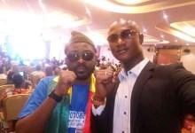 Le journaliste Moussa Traoré et Foniké Menguè