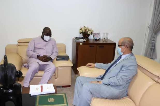 Guinée - Maroc L'ambassadeur marocain chez le Ministre