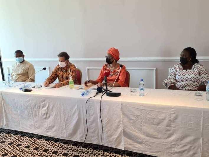 La Ministre de la jeunesse et de l'emploi des jeunes madame Assiatou Baldé