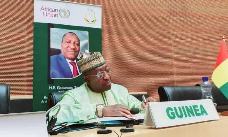 CENTRE AFRICAIN DE DÉVELOPPEMENT signature de l'accord de domiciliation du siège en République de Guinée.