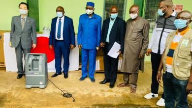 Cérémonie de remise ce jeudi à la PCG d'équipements médicaux offerts par le gouvernement japonais à la Guinée dans le cadre de la lutte contre la Covid-19