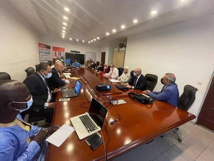 Rémy LAMAH a reçu une forte délégation du groupe égyptien d'investissement ''The Arab Contractors'' conduite par son président Abd El Hafez Sobhi.