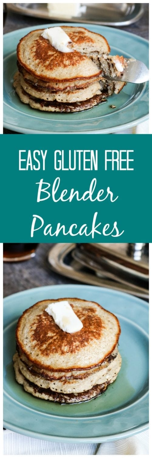 Gluten Free Blender Pancakes: Tender, fluffy gluten-free, oatmeal pancakes are made in minutes with the help of a blender.