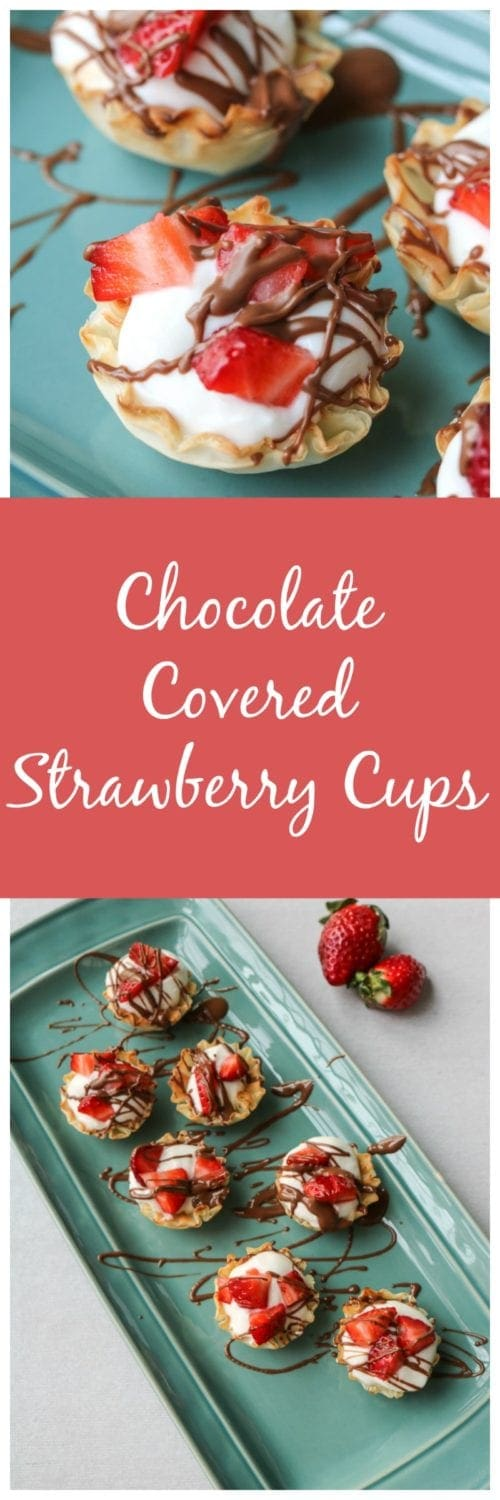 Chocolate Covered Strawberry Cups: 5 Minutes and 5 Ingredients is all you need to have one of the tastiest treats around.