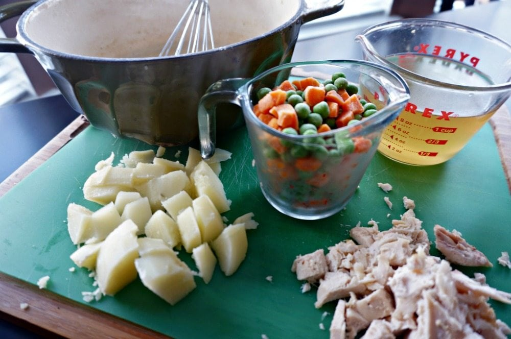 ingredients for chicken pot pie