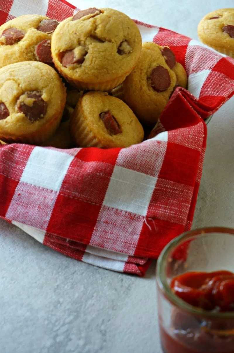 Hot Dog Muffins for the Lunch Box