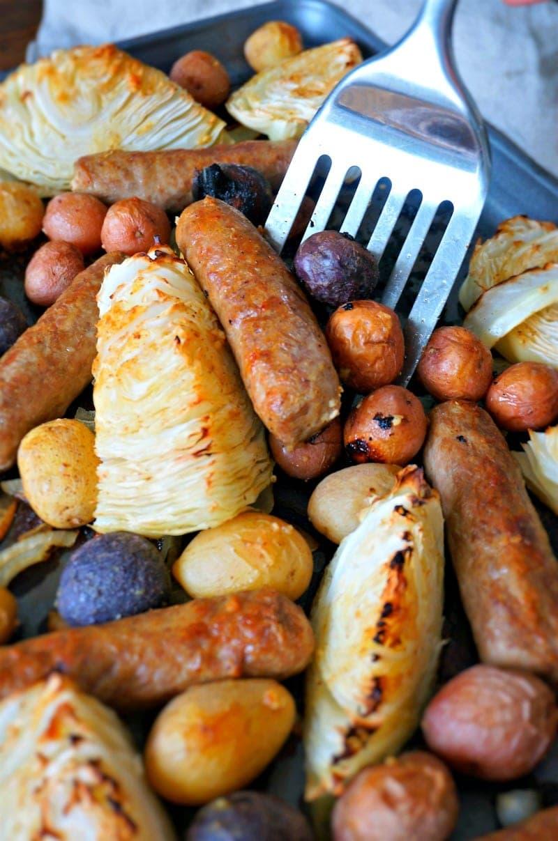 Sausage and Potato Sheet Pan Dinner