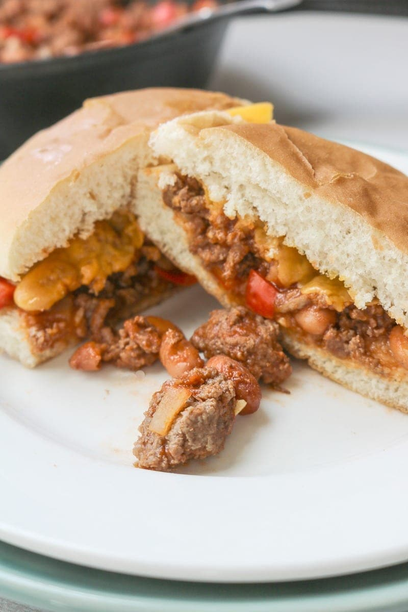 Beef and Bean Easy Sloppy Joes: Ditch the can and make the best tasting, healthier sloppy joes your whole family will beg for again and again.