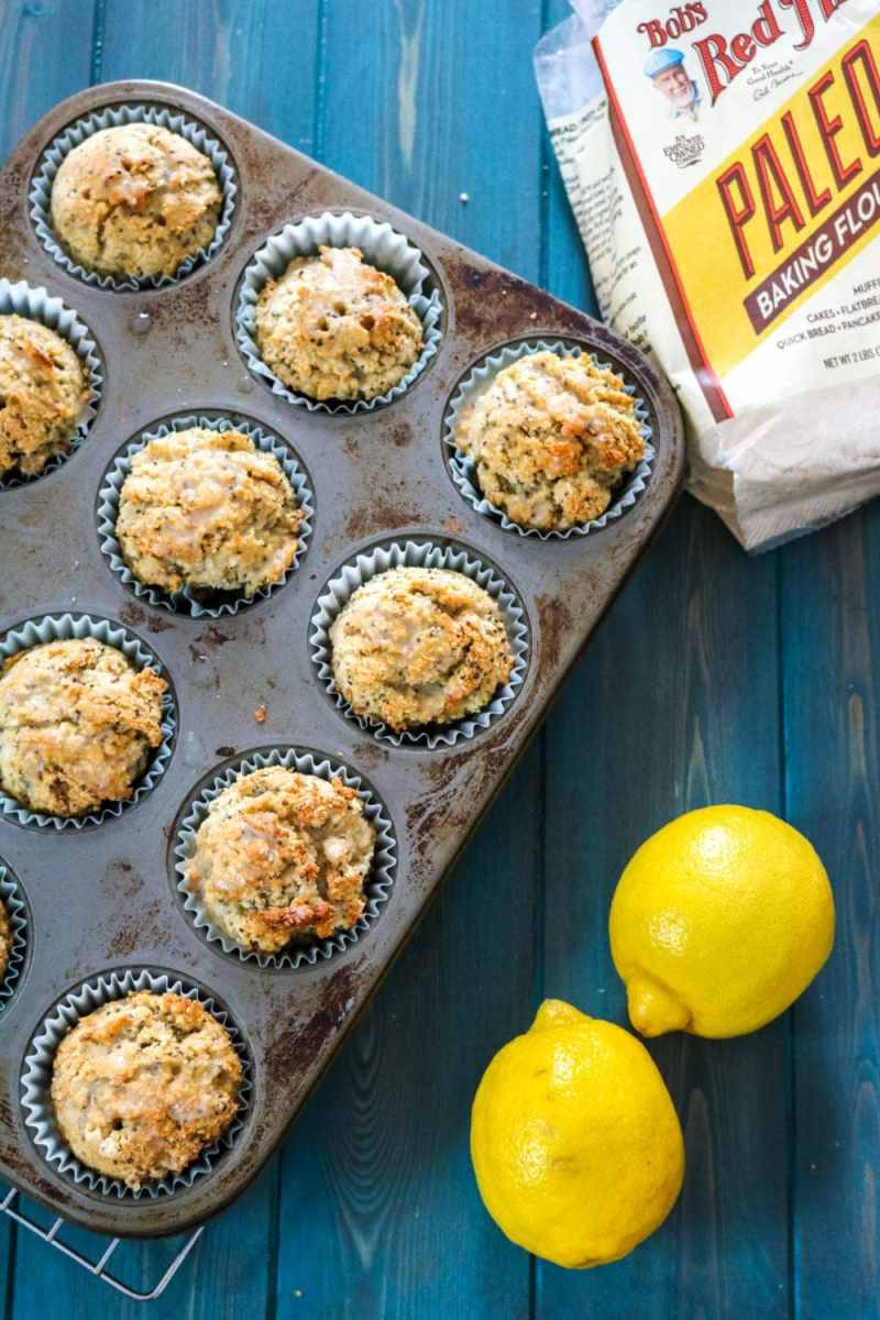 Coconut Lemon Muffins: Lemon chia seed muffins made gluten-free, grain-free, dairy free and DELICIOUS