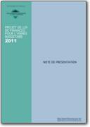 Projet de Loi des Finances 2011