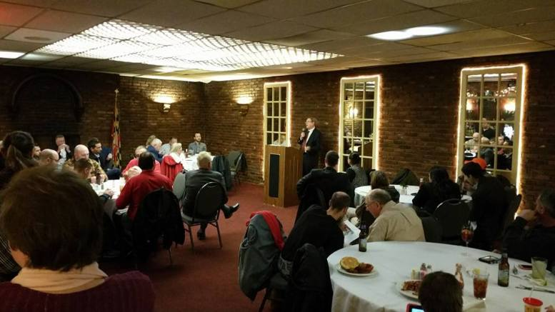Walter Olson speaking to the Republican Club