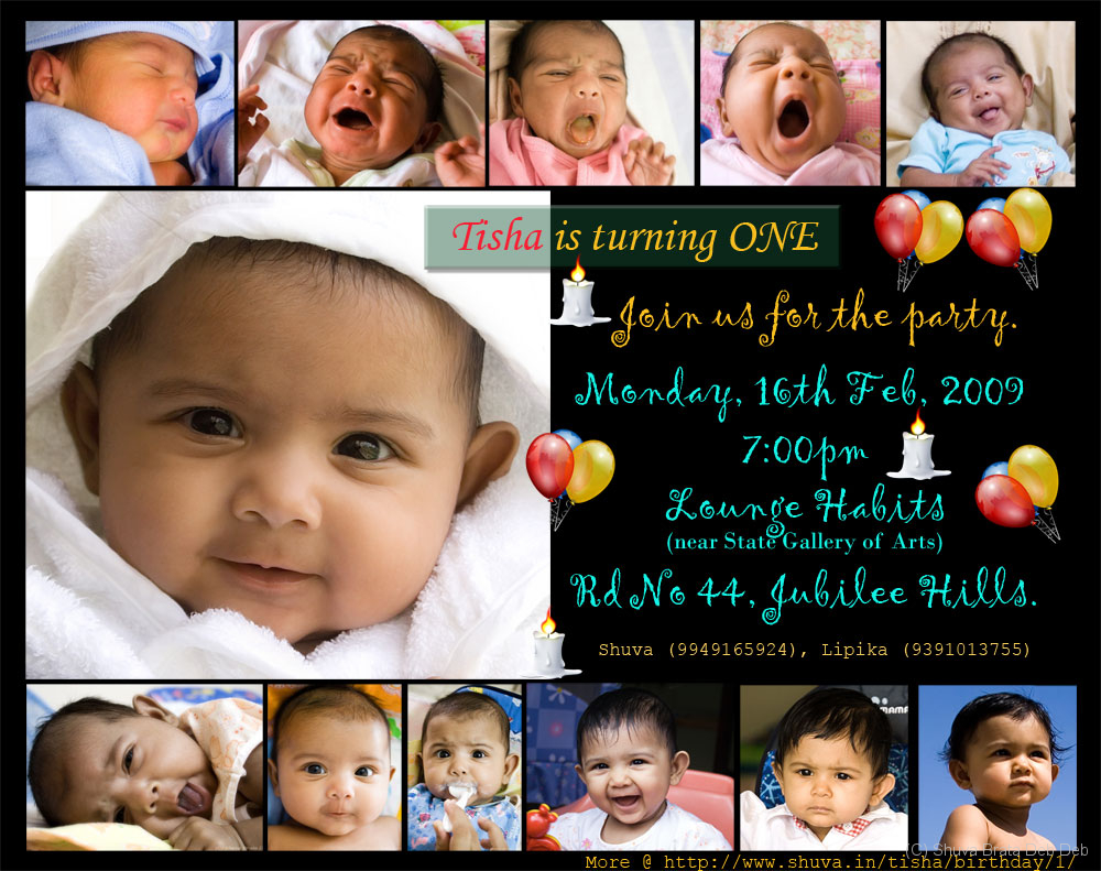 tisha s 1st birthday invitation