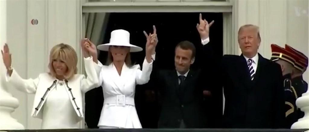 Nuits d'émeutes - Page 10 Macron-Trump-devil-horns-01