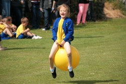 Harriet bouncing along to well earned second place.