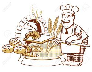12385268-Baker-at-the-oven-Stock-Vector-baker-bakery-bread