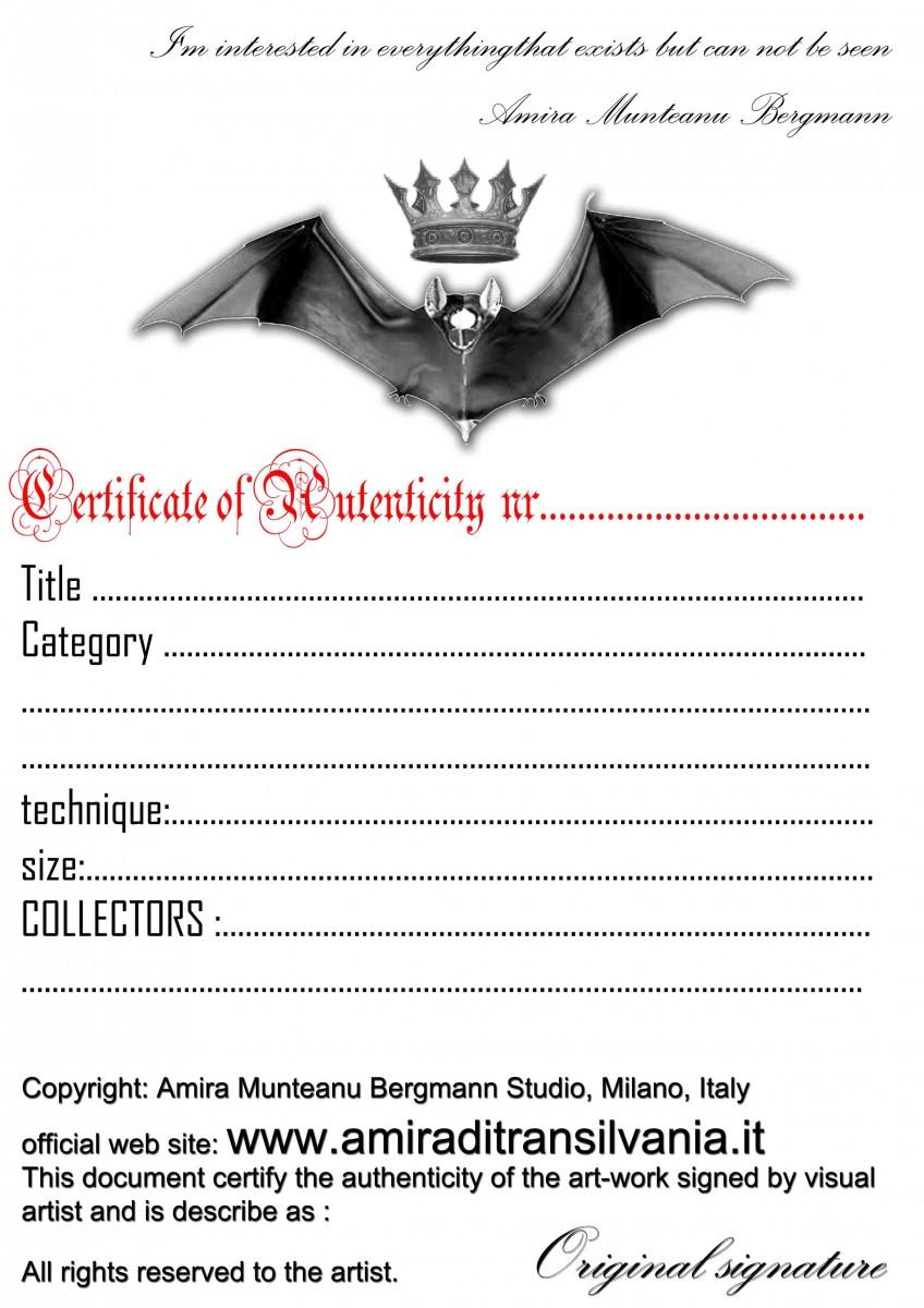 certificato di originalità