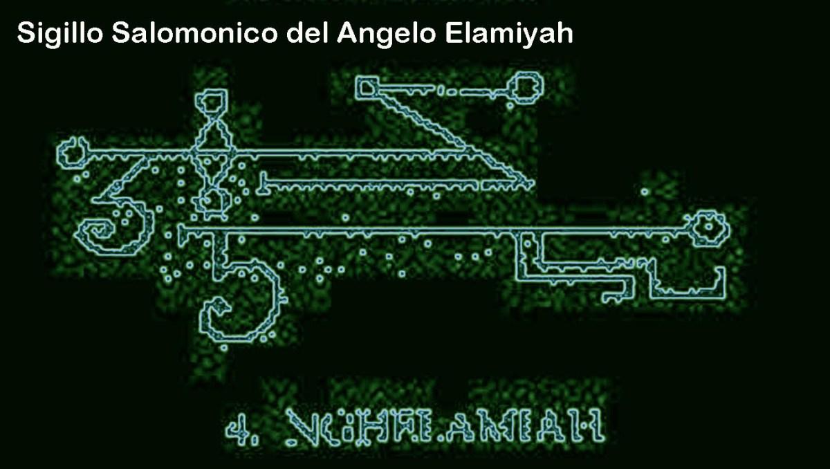 sigillo salomonico del angelo Elamiyah