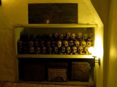 skulls in Catedral de Lima