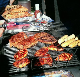 My 4th of July at my brother's house with ALL THIS MEAT!