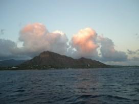 Diamondhead Peak at dusk