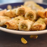 Authentic Baklava Recipe; Baklava Rolls
