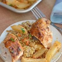 Middle Eastern Chicken Stuffed With Freekeh