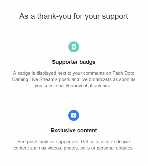 kelebihan supporter content creator facebook