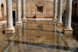 The Roman baths prior to being filled in with sand.