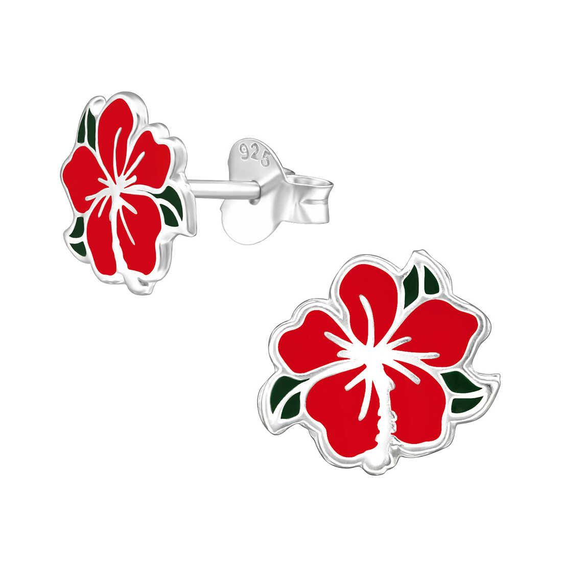 עגילים בצורת פרח צמודים לאוזן