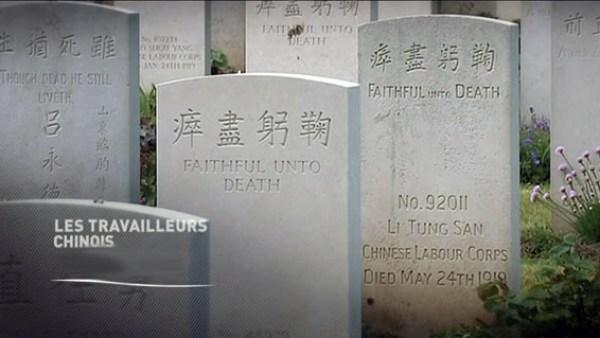 Tombes de travailleurs chinois de la guerre 14-18 morts en France