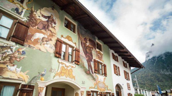 Maison peinte de Mittenwald