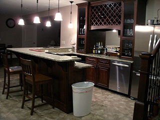 High End Kitchen Bar Remodel Amish Custom Furniture