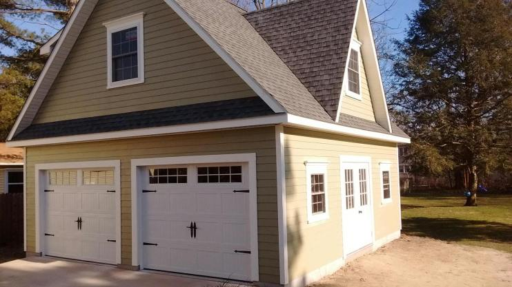 Two Story Amish Built Garage
