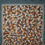 Tumbling Blocks King Size Bed Quilt C Jean Horst