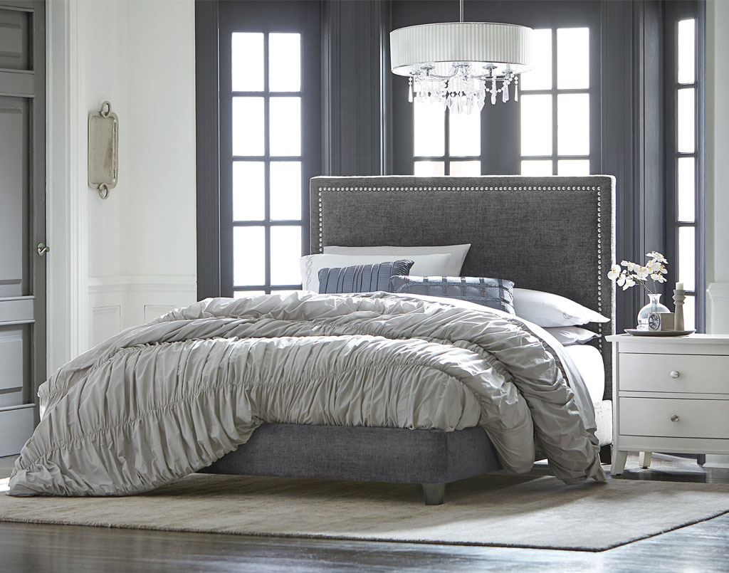 adessa fabric bedroom set - amish direct furniture
