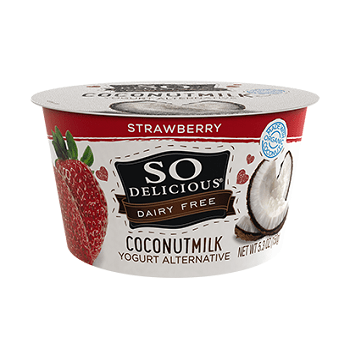 coconut milk yogurt strawberry