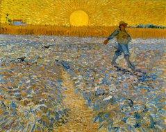 Sower With Setting Sun - Van Gogh 1888