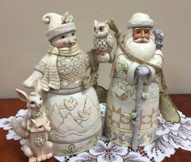 New White Woodland From Jim Shore Heart Of Christmas Santa