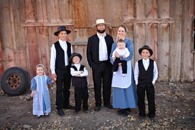 Family of Old Order Amish