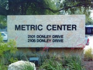 Monument Sign Metric Center