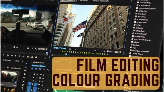 Film Editing and Color grading for feature films