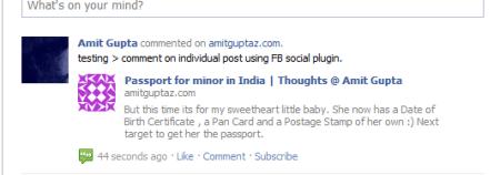 social plugin - FB comments