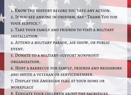 8 ways to celebrate Armed Forces Day