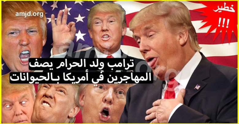 "Photo of ترامب ولد الحرام يصف المهاجرين في أمريكا بـ ""الحيوانات"" وهذا ما قاله.."