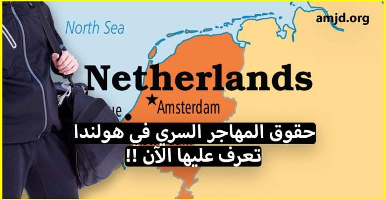 حقوق الحراقة في هولندا .. تعرف على الحقوق التي يتمتع بها المهاجر في هولندا واخا يكون مهاجر سري
