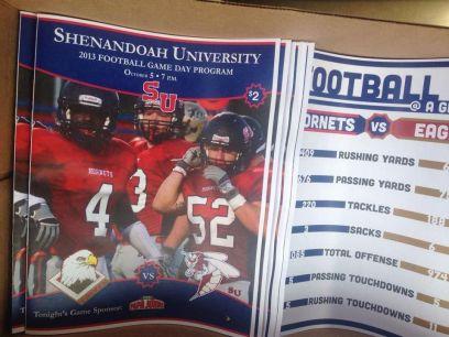 2013 Football Game Day Programs