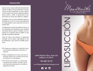 Liposuccion Brochure
